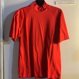 NWT Men's Red mock neck Izod Golf Shirt - Size S